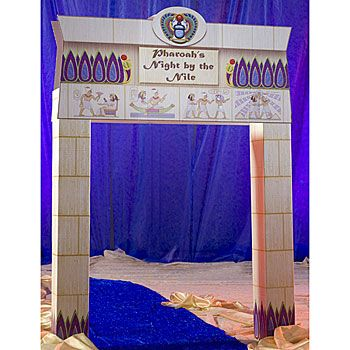 Use the Night by the Nile Arch to welcome your Egyptian party guests into the land of the pharaoh's. Each cardboard Egyptian hieroglyphics arch measures 9 feet 9 inches high.