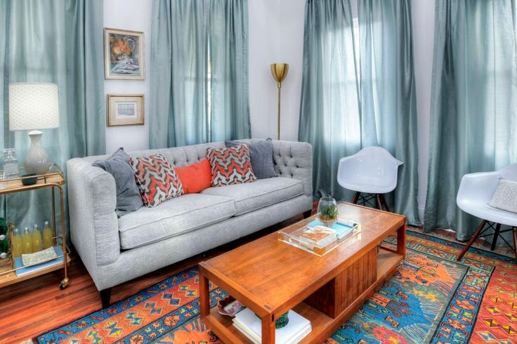 Good Bones: The Little White House On The Hill. Story HouseLiving Room  ColorsBlue ...