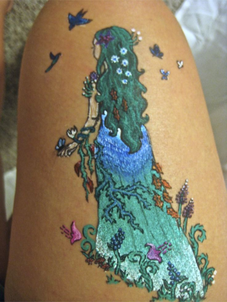 Mother Nature Tattoos Mother nature gel pen by