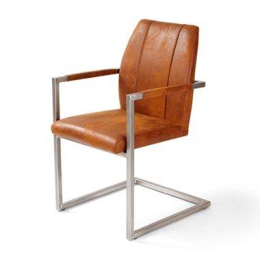 Eetkamerstoelen : Brix stoel cognac