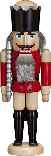 Nutcracker King ashtree red height 39 cm  15 inch original Erzgebirge by Seiffener Volkskunst *** This is an Amazon Affiliate link. Click image to review more details.