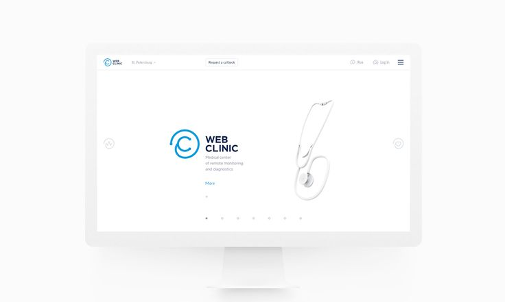 WebClinic website on Behance