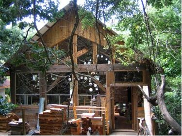 Dan Philips Uses All, Or Almost All, Recycled Material To Build His Houses.