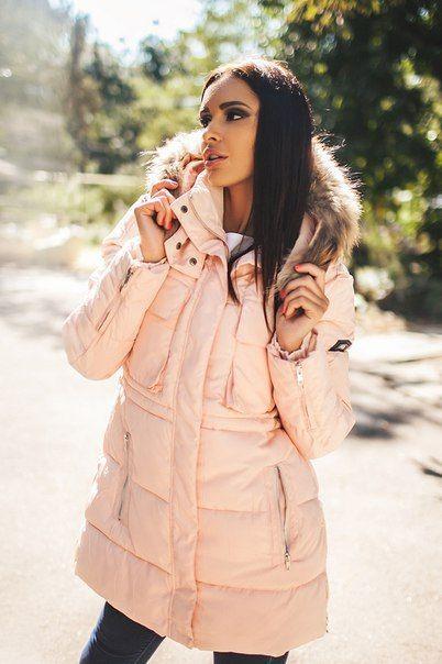 Зимняя куртка пальто Helen пастель
