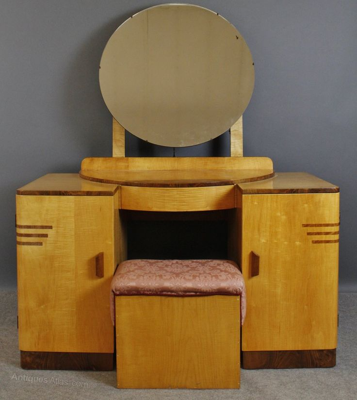 new art deco furniture. art deco sycamore u0026 walnut dressing table stool antiques atlas new furniture