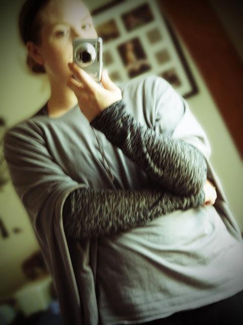 knit nursing cover DIY no sew