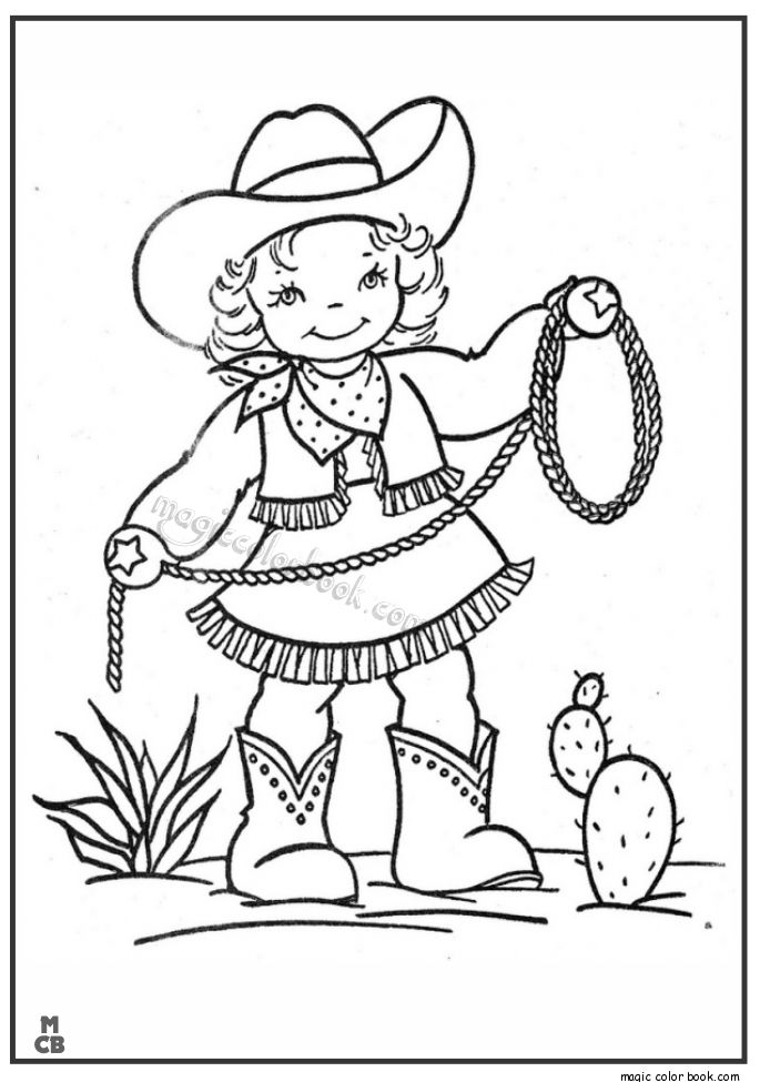 coloring book pages cowboys - photo#16