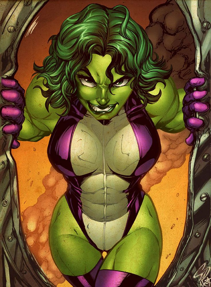 She-Hulk. Sometimes I feel like this is what I am! Hahaha.
