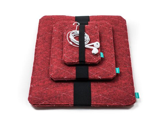 MacBook case felt MacBook sleeve red MacBook case by GopherShop