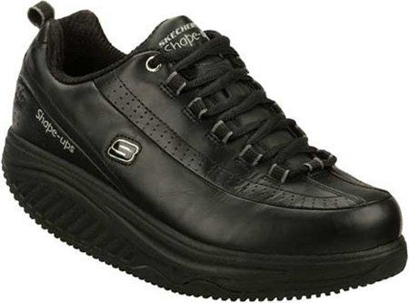 Black Sketcher Work Shoes