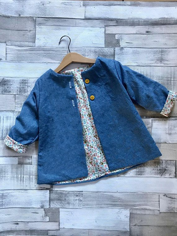 Girls Denim Jacket – Girls Spring Jacket – Denim Coat – Kids Denim Coat – Toddler Denim Jacket – Girls Summer Jacket – Lightweight Baby Coat