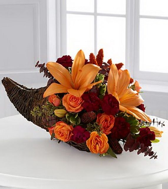 Thanksgiving centerpieces floral