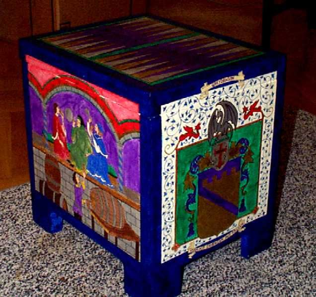 Medieval Cooler Chests.  I have a toybox that my grandfather made for me when I was a baby that would make an AWESOME one of these - I've always wanted to turn it into something I could use; now I know what. :)
