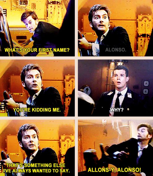 I think this was the second episode of Dr Who I ever watched. Yay for the doctor!! he finally got to meet a guy named alonso, lol