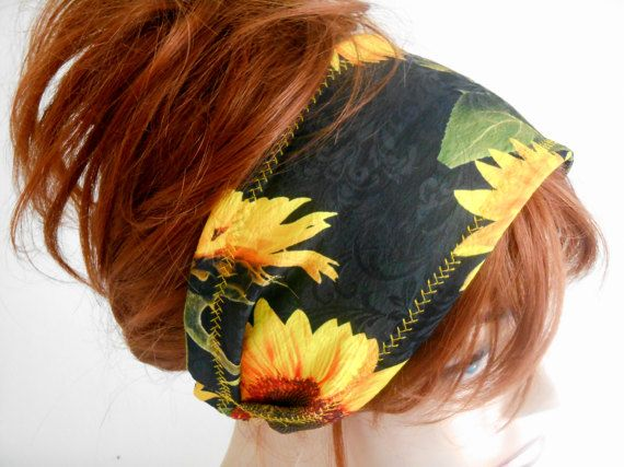 Festival Head Band, Head Band, Gypsy Hair Band, Cotton Head Band, Fabric Hair Band, Boho Hair Band, Head Shawl, Flower Head Band, Headwrap   The headband is sleek, non-slip. Ideal for daily life, sports, party, dance, hiking, exercise, yoga.   COLOR: Black, Yellow, Green Sunflower   MAINTENANCE INSTRUCTIONS Hand washing. Leave it directly to dry.   Deliveries will be sent within 1-3 days of receiving payment. You can follow your business with the tracking number.   If you have any problems…