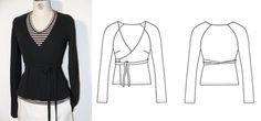 Oberteile & Jacken - Wickeljacke 34-52 QUICK&EASY SCHNITTMUSTER - ein Designerstück von schnittvision bei DaWanda