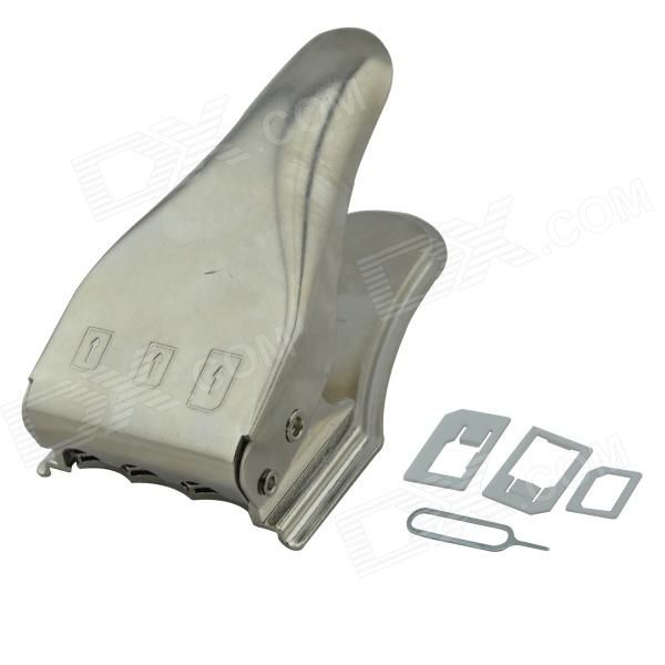 3 in 1 SIM card cutter, upgrade to a new SIM card cutter, SIM card directly cut into nanometer card, do not need to be cut twice, once forming reduced the probability of bad card, convenient and quick. Can cut Standard SIM to Micro SIM. Can cut Standard SIM & Micro SIM to Nano SIM. http://j.mp/1ljNEAN