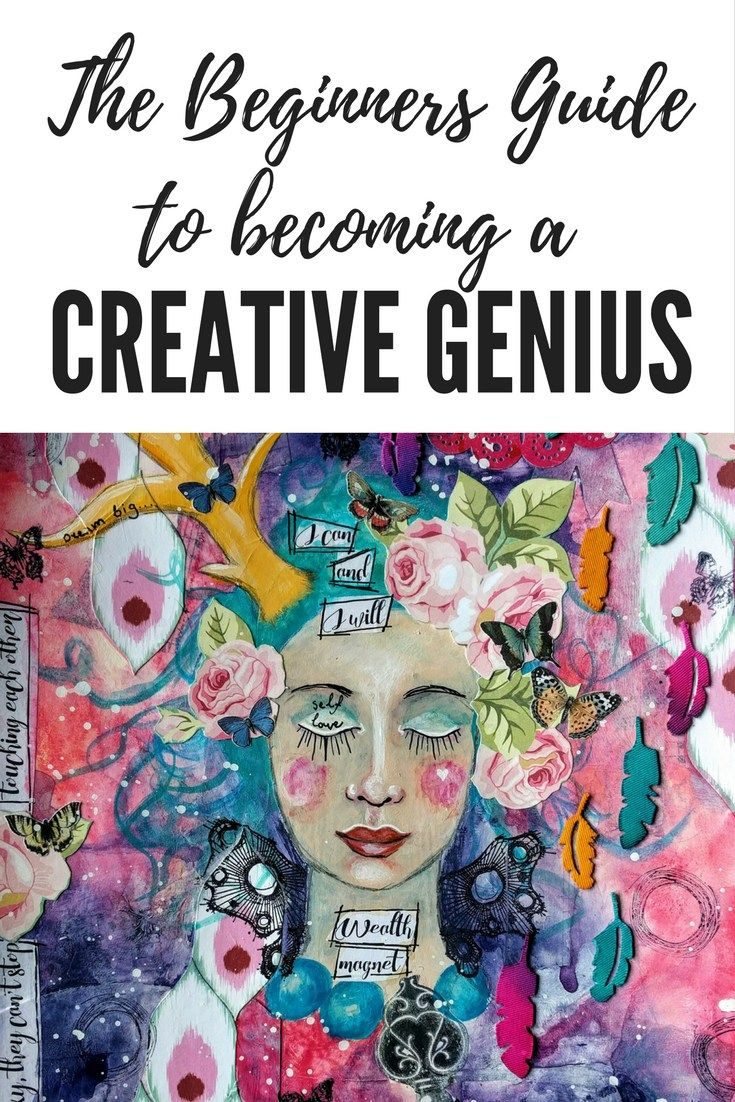 """Beginners Guide to becoming a Creative Genius. A Complete Beginners Guide to becoming a Creative Genius using the 5 P's formula - taking you from """"Can't Create, Won't Create"""" to Creative Genius."""