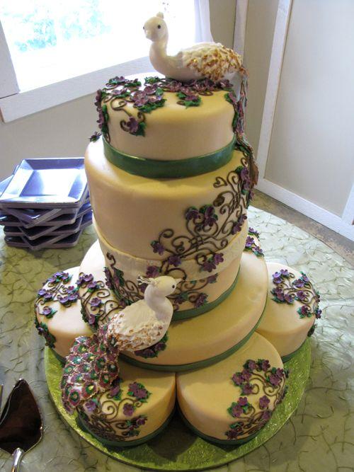 peacock cake topper | Peacock Wedding Cake | Artisan Cake Company