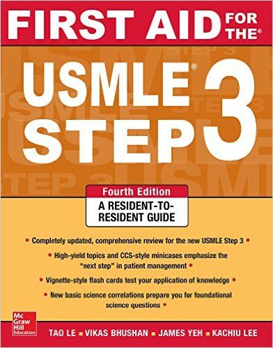 First Aid for the USMLE Step 3 4th Edition Pdf Download For Free - By Tao Le,Vikas Bhushan First Aid for the USMLE Step 3