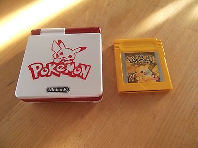 #Nintendo/#Gameboy Advance SP (Model AGS-001) W/ Pokemon Yellow #retrogaming…