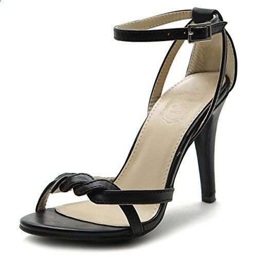 Women's Shoe High Heel Front Twisted Ankle Strap Dress Sandal