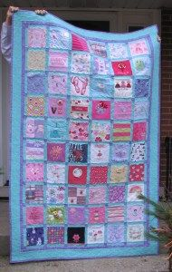 Memory Quilt Made From Children S And Baby Clothing
