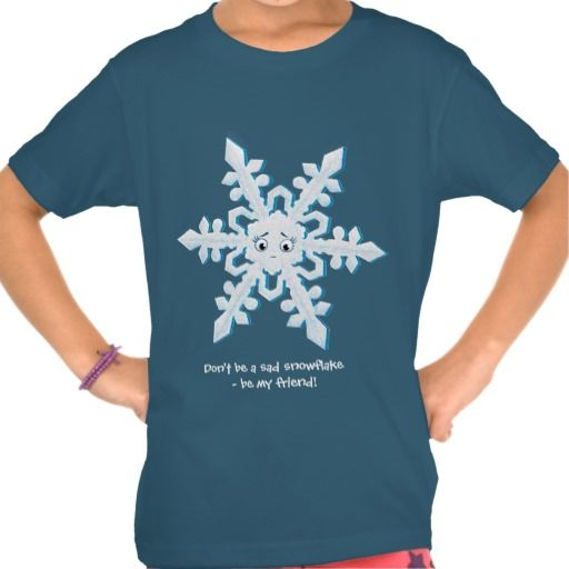 Be My Friend - snowflake Tees ~ Read more about The Lonely Snowflake http://www.frogburps.com/snowflake_sq #childrensbooks  #thelonelysnowflake #frogburps #tshirt #childrensclothes #cute #childrensbooks #indiepublishers #indieauthors