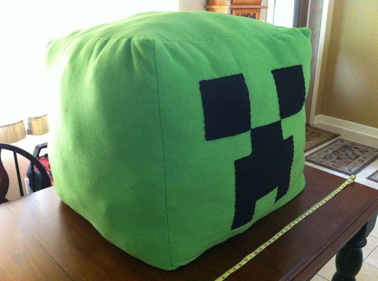 "TEEN/ADULT MINECRAFT CREEPER PLUSH BEANBAG!! Approx. 30""-35"" x 30""-35"" x 30""-35"" square when completed. CUSTOM ORDERS CURRENTLY ACCEPTED. Made of fleece and stuffed with fiberfill! EXTRA SUPER COZZZYYYY!!! ♥ Project takes 2-3 months on average to complete. $200.00 + $59.99 shipping anywhere in USA! These can be custom made in just about any colors you'd like!! :D"