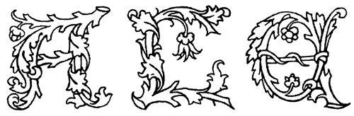 Рис. 9. Эрхард Ратдольт, видимо, тоже не был оригинален в своих инициалах. Подобные изображения заглавных букв традиционны для немецких манускриптов Ксилографии из «Календаря» Иоганна Региомонтана. Венеция, 1476 год