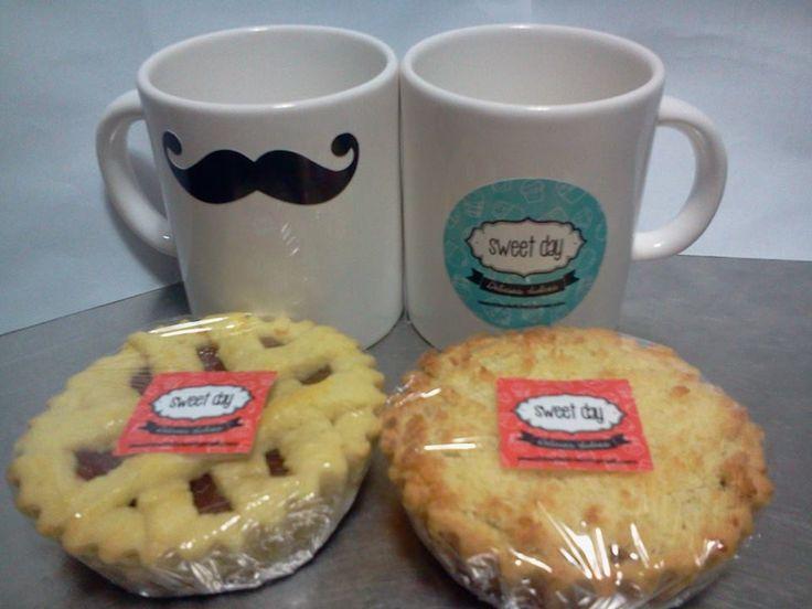 Para el desayuno divertida taza con sticker s per for Tazas para desayuno