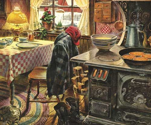 """Country Breakfast by White Mountain Puzzles.   This puzzle scored #1 in our February image survey by our Puzzle Panel. Item 960: 1000 piece jigsaw puzzle: Finished size 24"""" x 30""""  $15.95"""