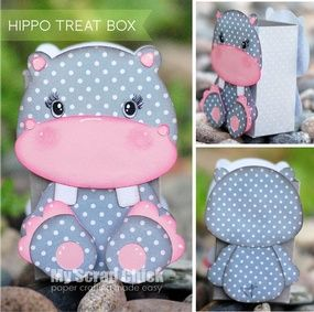 Hippo Treat Box with Backside: click to enlarge