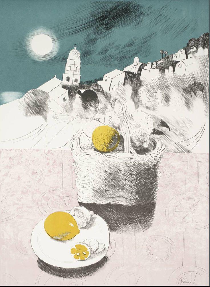 B-sides: Mary Fedden(British, 1915-2012) Straw Plate ...