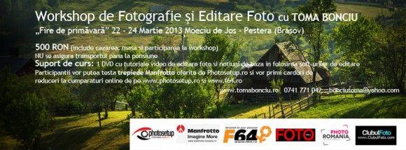 """Workshop de Fotografie si Editare Foto """"Fire de primavara"""""""