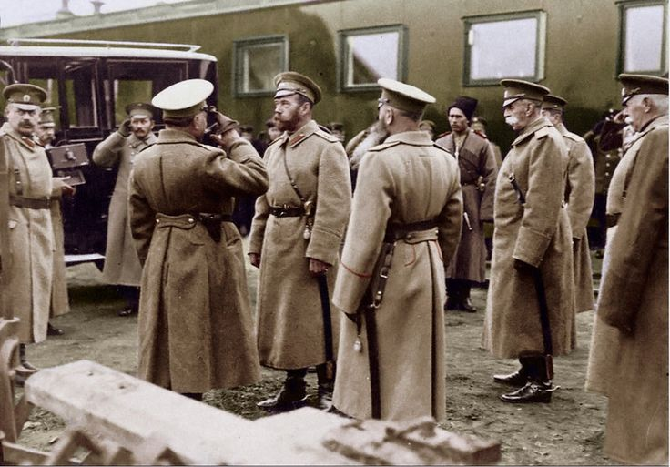 Tsar Nicholas II at the front during World War I.  by ~KraljAleksandar