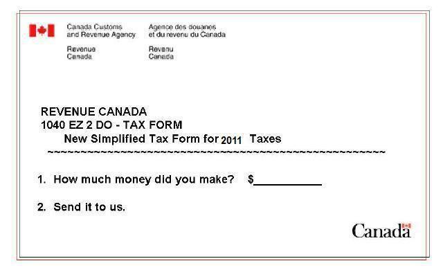 Canadian Humor - Taxes