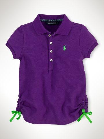 3T Stretch-Mesh Polo Shirt - Girls 2-6X Polos - RalphLauren.com