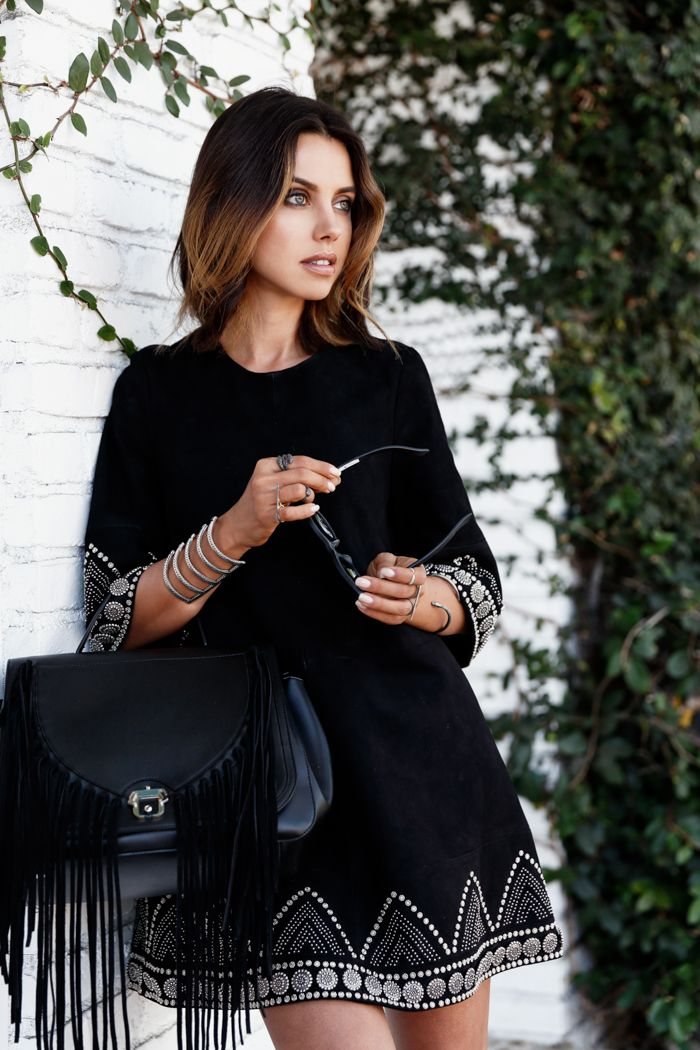 VivaLuxury - Fashion Blog by Annabelle Fleur: BLACK OUT - DODO BAR OR Scarlett dress, PAULA CADEMARTORI bag, ELODIE K. jewelry, ILLESTEVA sunglasses all thanks to ELODIE K.  September 7, 2015