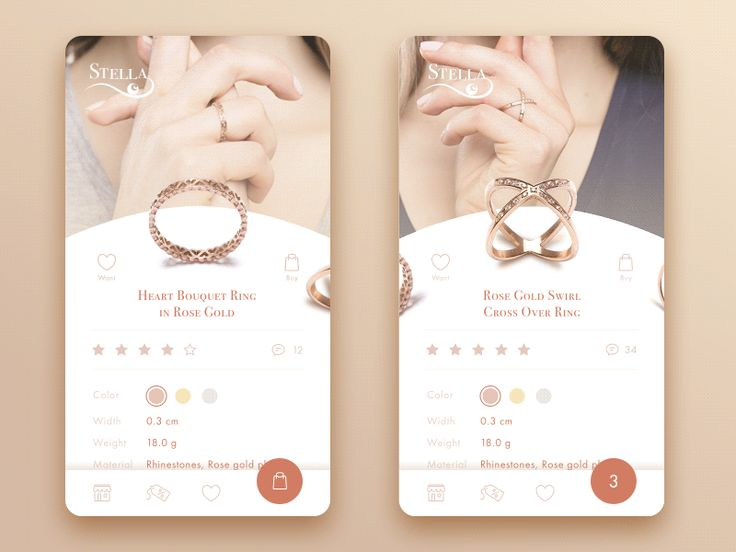 Jewellery e commerce app concept by tubik