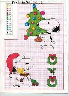 Snoopy cross stitch - Christmas