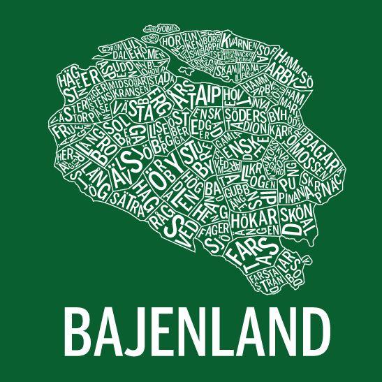 Print Bajenland i färgen negativ hemma 1