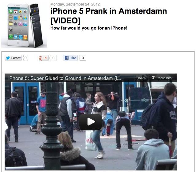 [VIDEO] iPhone 5 prank in Amsterdam: Iphone 5S, Viral Videos