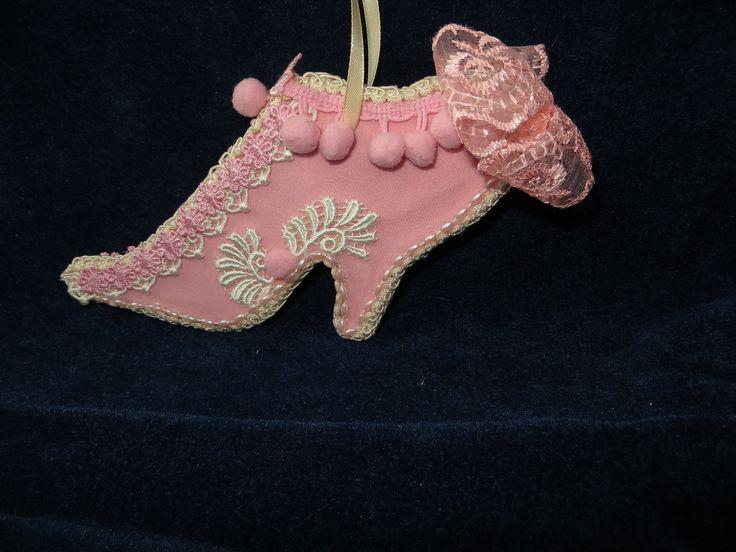 Королевская туфелька-интерьерное украшение,подвеска в стиле а-ля Мария Антуанетта (16х12см)