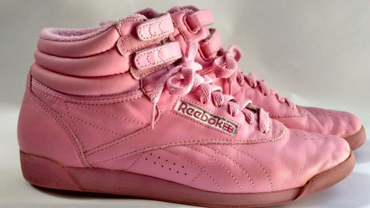 Vintage Bubble Gum Pink Freestyle Hi Top High Reebok Shoes Sneakers 80s sz 10 | Clothing, Shoes & Accessories, Women's Shoes, Athletic | eBay!