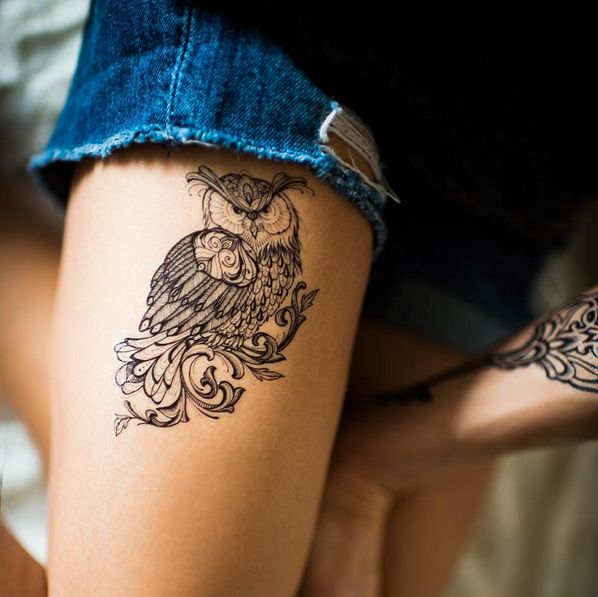 128 best owl tattoos images on pinterest owl tattoos tattoo owl and design tattoos. Black Bedroom Furniture Sets. Home Design Ideas