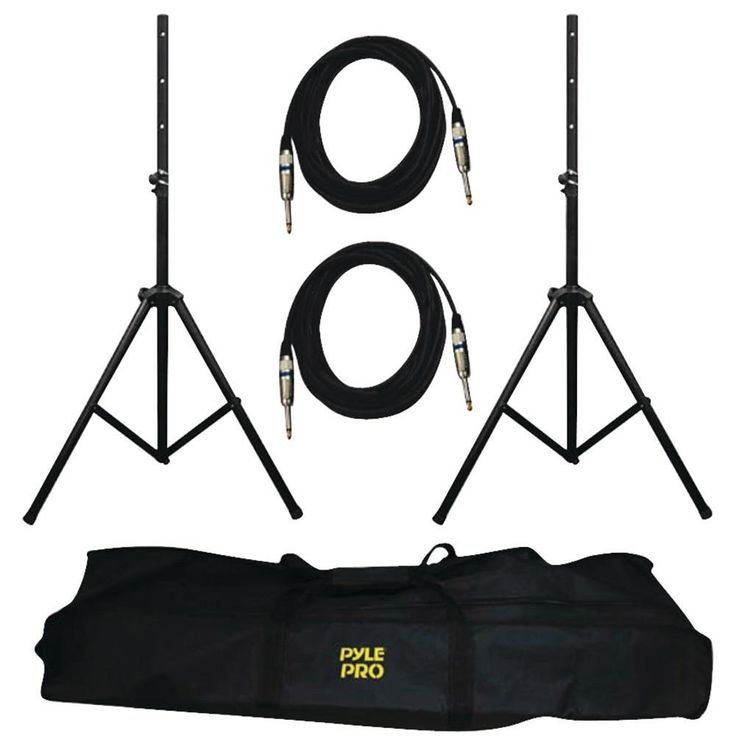 PYLE PRO PMDK102 Heavy-Duty Pro Audio Speaker Stand & 1/4 Cable Kit