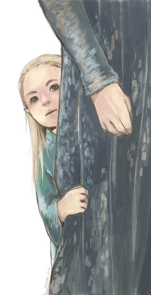 dans les jupes de son père