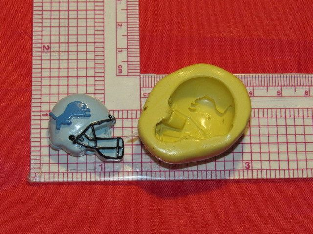 NFL Football Detroit Lions Helmet Silicone Push Mold 793 Chocolate Candy Soap Wax by LobsterTailMolds on Etsy