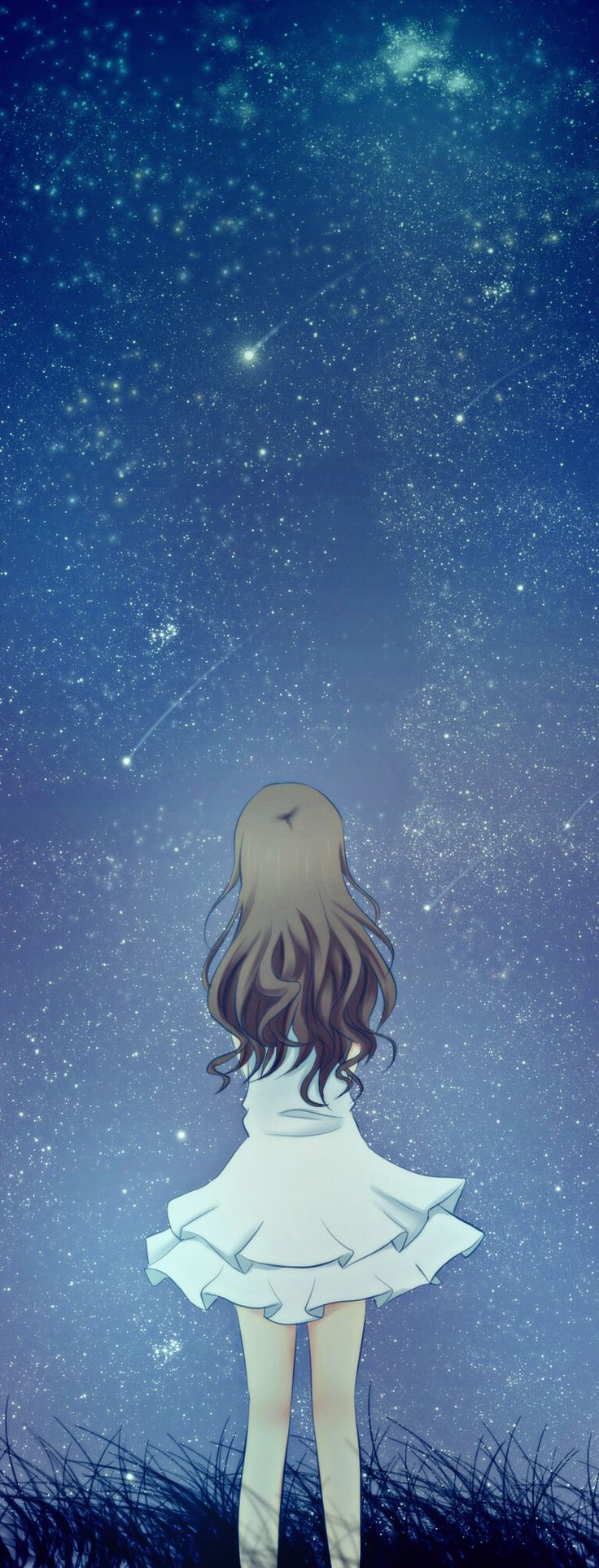 Anime Girl Looking At The Sky